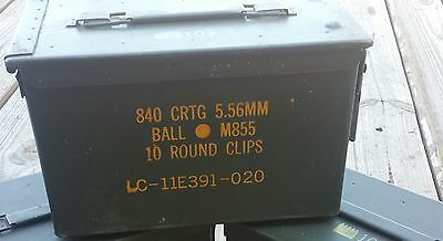(1)50 Cal Ammo Can Box *Military issued* (Free pocket knife with purchase)