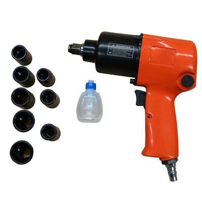 """Dr 1/2"""" 8 Socket 13-24mm Air Impact Pneumatic Wrench Rattle Gun inlet1/4 WDMATE"""