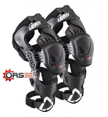 New for 2017 - LEATT C-FRAME KNEE BRACE PRO CARBON - PAIR (L/XL)