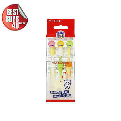 Pigeon Baby Training Toothbrush Set 1 2 3