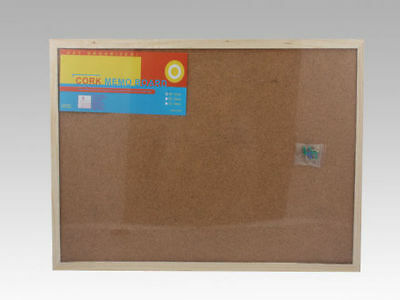 WA Stock Corkboard noticeboard 60cm x 40cm with wooden frame