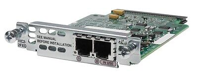 Cisco VIC2-2FXO 2-Port Voice Interface Card Plug-in Module Tax Inv Free Ship