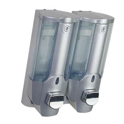 350ml Double Head Soap Bathroom Shampoo Lotion Holder Pump Action Dispenser