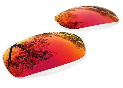 Fit&See Polarized Fire Red Replacement Lenses for Oakley Fives Squared