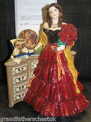 Royal Worcester Fruits Ltd Ed Gypsy Romany Figure Anniversary Bouquet At Appleby