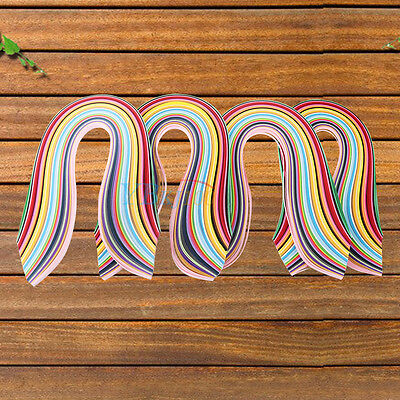 720Pcsx540mm Length x36 Mixed Color Quilling Paper Origami DIY Craft 3/5/7/10mm