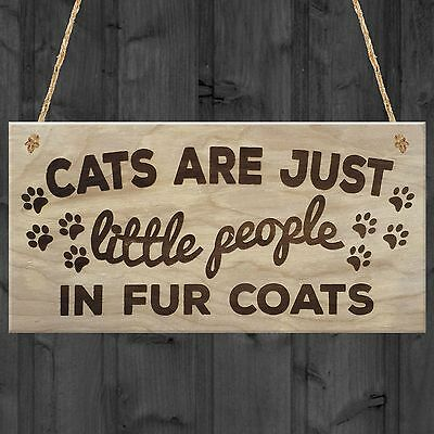 Red Ocean Cats Are Just Little People In Fur Coats Plaque Wooden Hanging Sign...