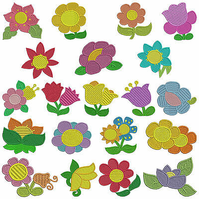 LITTLE FLOWERS * Machine Embroidery Patterns * 20 designs, 2 sizes