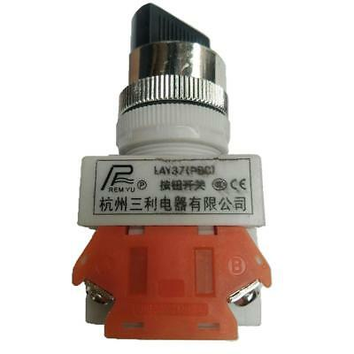 22mm Latching 2-Position Rotary Selector Select Switch Ui660V