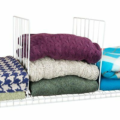Evelots® Coated Wire Closet Shelf Dividers, Clothes Organizer & Storage,