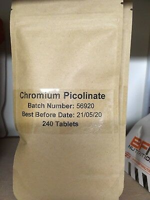 Chromium Picolinate 200mcg - 240 Tablets