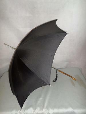 *Vintage St Michael's Ladies Umbrella w/ Rattan Wrapped handle -Made in Britain*