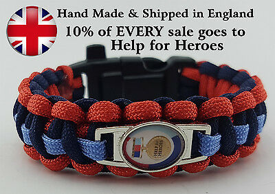 Help for Heroes Paracord Badged Survival Bracelet Wristband Tactical Edge 550