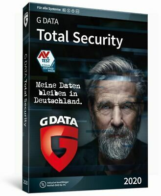 G DATA Total Security 2019 1 PC 1 Jahr Security Protection Gdata Made in Germany
