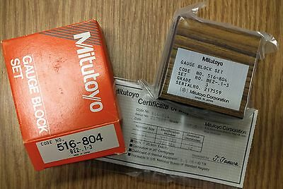 Mitutoyo 516-804 Grade 3 Gage Block Set BE2-.1 - 3