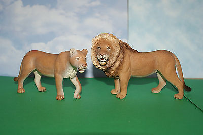 """Lion Male & Female """"King of the Jungle"""" by Schleich"""