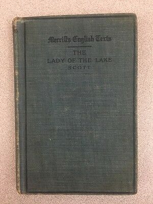 Antique Book 1912 Merrill's English Texts: Lady of the Lake by Sir Walter Scott