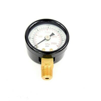 Industrial Grade Pressure Gauge, 1 1/2 In Dial Dia., 0 to 300 Psi Range