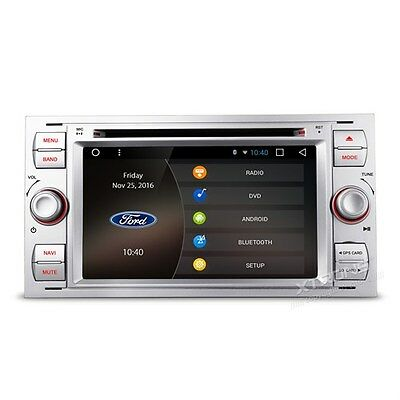 """AUTORADIO Ford Focus C-max Mondeo Fiesta Usb Touch Navigatore Gps 7"""" Android 6.0"""