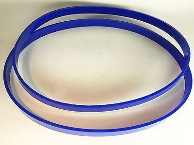 """2 Band Saw TIRES for POWERMATIC 87 Band Saw 1/8"""" Blue Ultra Thick Tires USA"""