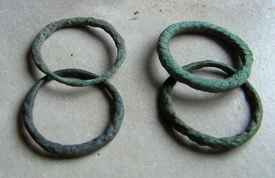 Antique Viking Bronze Rings 8-10 A.D.#1