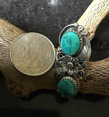 Ladies Navajo Royston Turquoise  and Sterling Silver Pointer Style Ring size 6