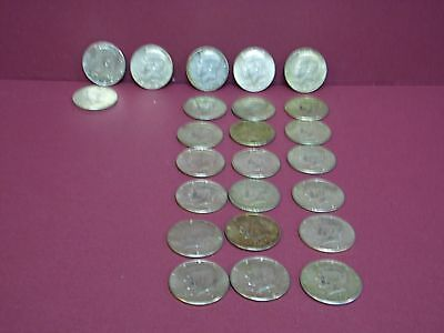 Silver Half Dollars 1965-1969 PD 24 Coins