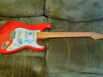 Creedence Clearwater Revival Signed Fender Guitar On The Pick Guard By 3