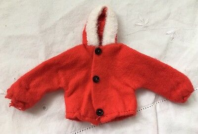 Vintage Knock Off  Doll Clone RED COAT with HOOD White Fleece Trim TUTTI Size