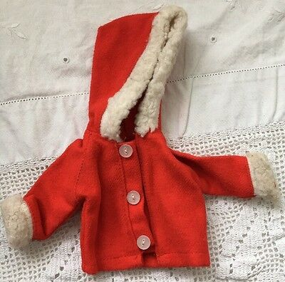Vintage Knock Off Barbie Doll Clone RED COAT with HOOD White Fleece Trim Tammy