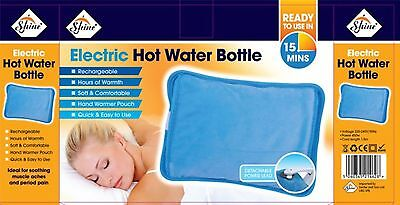 Rechargeable Electric Hot Water Bottle Heat Bed Hand Cozy Soft Warmer Massaging