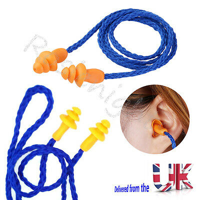 2 PAIRS Soft Noise Prevention Earplugs Reusable Ear Plugs With Cord Sleep