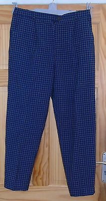 JRB Golf  Women's Blue Check GolfTrousers Size 16
