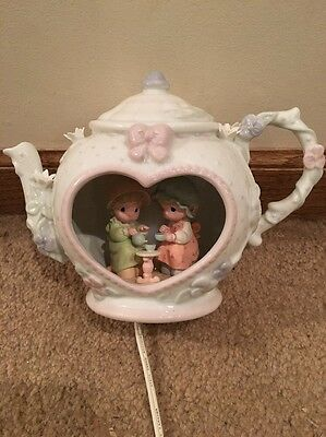 Precious Moments 92 Teapot Night Light Lamp Night Light Underglaze Nitelite Box