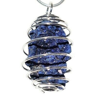 "CHARGED Azurite Perfect Pendant™ ULTIMATE PSYCHIC STONE + 20"" Silver Chain"