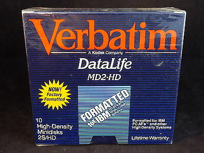 "VERBATIM DataLife MD2-HD FORMATTED 5 1/4"" 2S/HD floppy disks NEW Old Stock"
