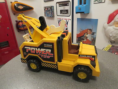 Vintage Fisher Price Power Tow Truck 1982 Very Nice