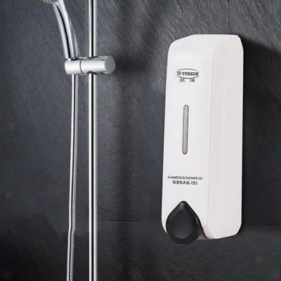 350ml Plastic Wall Mounted Shampoo Shower Lotion Holder Pump Action Dispenser