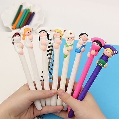 Creative Stationery Cute Character Doctor Nurse  Polymer Caly Ball Ballpoint Pen