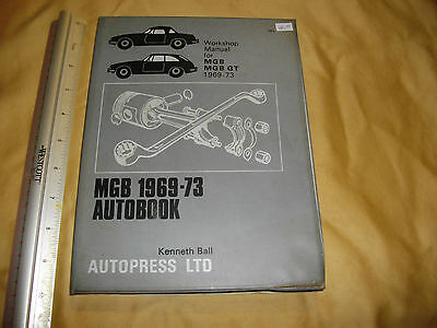 mgb and mgb gt 1969-73 autopress ltd kenneth ball usable copy as seen # 383