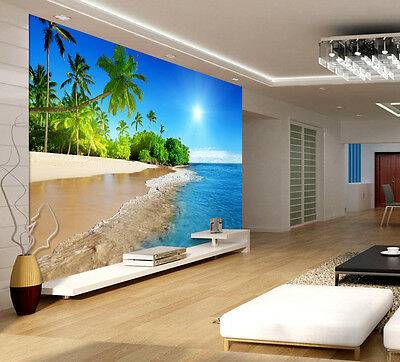 Sunshine Beach Coast Paradis Full Wall Mural Photo Wallpaper Print Kids 3D Decal