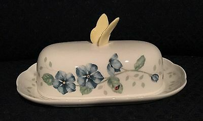 Lenox Butterfly Meadow Oblong Covered Butter Dish New With Tag First Quality