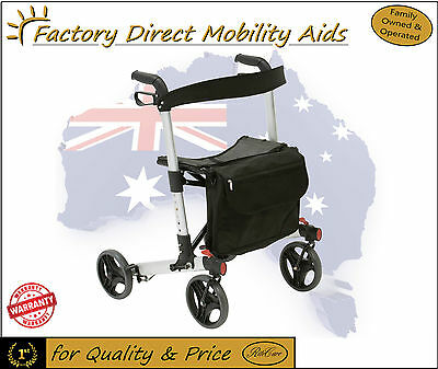 Drive X-Fold Rollator Walker With Seat Euro Style Light Weight