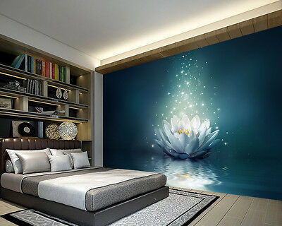 Magic Lotus Flowers in Water Full Wall Mural Photo Wallpaper Print Kids 3D Decal
