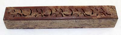 Vintage Chinese Hand Carved Soapstone Incense Burner Box with Hinged Lid