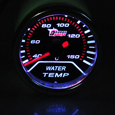 "Car Vehicle 2"" 52mm Tint Lens LED Water Temperature Meter Temp Gauge AU NSW"