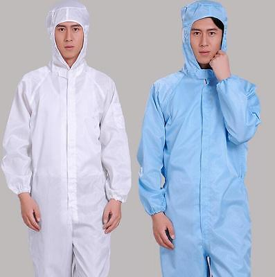 Anti-Static Hooded Suits Dust-Proof Protective Coveralls Laboratory Clothing