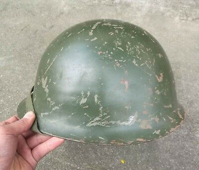 Old Chinese Army Military Style 80 Steel Helmet Field Helmet-238