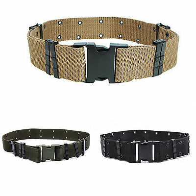 Men Adjustable Survival Army Military Tactical Belts Heavy Duty Combat Waistband