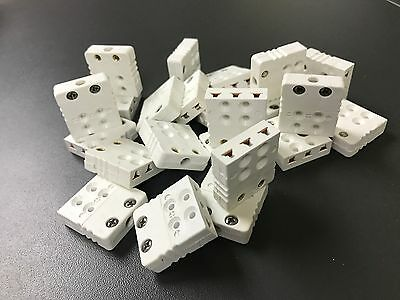 30 x Hamitherm Miniature 3 PIN RTD Connector Sockets CU White